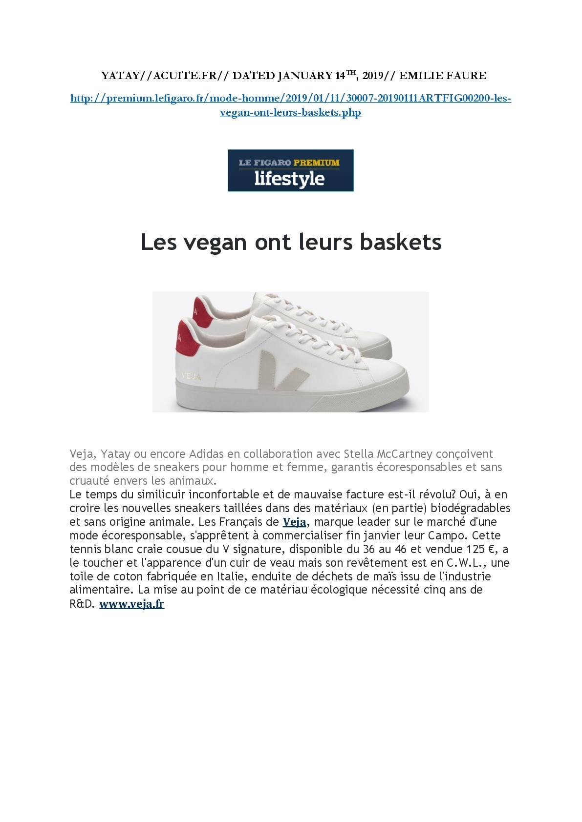 Le Figaro January 2019